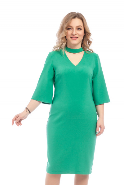 Платье с V-образным вырезом, П-0501/1