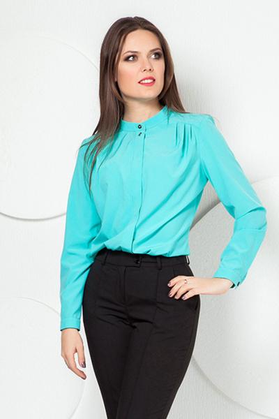 Блуза прямая мятного цвета, Б-139/4